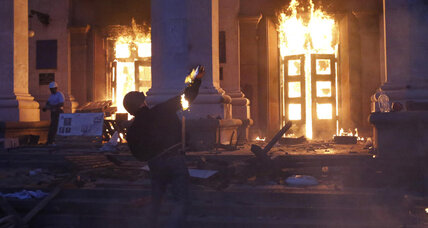 Dozens dead after Odessa building fire, protest clashes