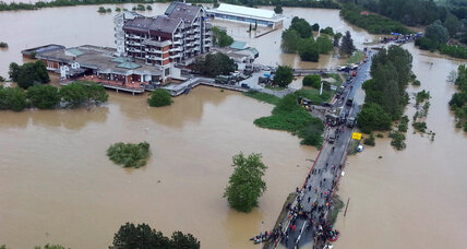 Serbian floods threaten Belgrade power plant, unleash landslides