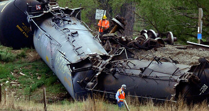 Colorado derailment: Six crude oil tankers jump track