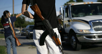 NRA calls Open Carry Texas protests 'weird.' A crack in gun rights bulwark? (+video)