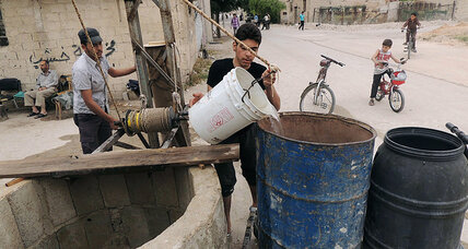 Not a drop to drink: Syrian shortages feed black market for water