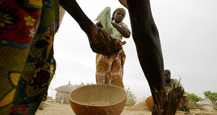 Women-run food banks provide cereal grains to poor farmers