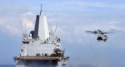 Pentagon moves USS Mesa Verde nearer Iraq. What can it do?