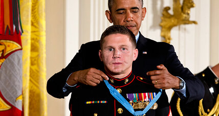 For valor atop a mud hut in Afghanistan, Marine receives Medal of Honor