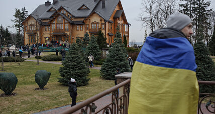 Ukrainian refugees find haven with a dash of presidential posh