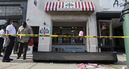 Door kills girl in Philadelphia Italian ice shop tragedy