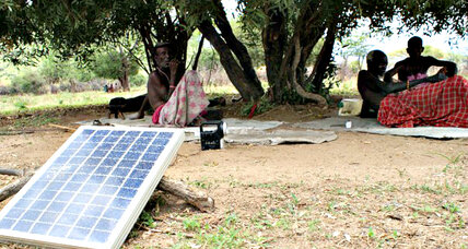 In Kenya, solar lights are a homework helper
