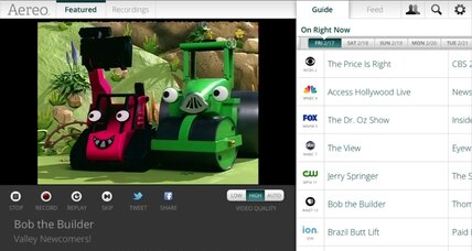 Aereo suspends its TV-over-the-Net service