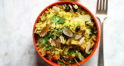 Curried basmati rice salad