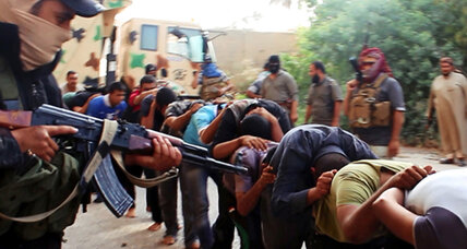 ISIS militants post images that reportedly show massacre of Iraqi soldiers