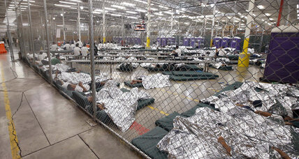 Sights and smells from holding centers for immigrant children