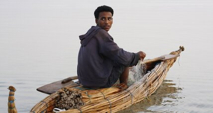 Fishermen ply Ethiopia's largest lake in papyrus boats, but hope for better
