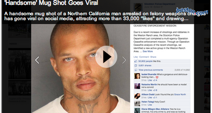 Jeremy Meeks' 'handsome' mug shot goes viral