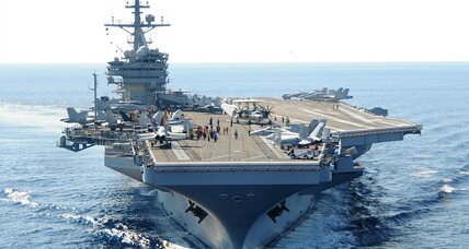 US naval power steams toward Iraq (+video)