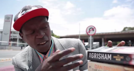 Video of homeless South African – the 'Pavement Bookworm' – goes viral