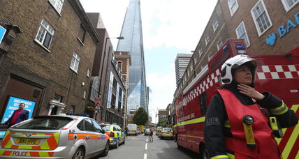 Skyscraper evacuated: London's tallest building shows smoke but no fire