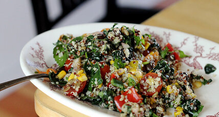 Quinoa, kale, and corn mexi salad