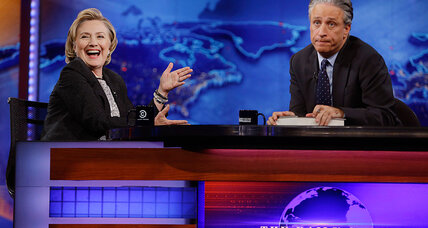 Hillary Clinton tells Jon Stewart she's running for president. Not!
