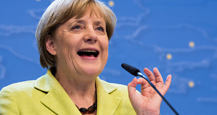 So very Merkel: German chancellor celebrates 60th with brainy lecture