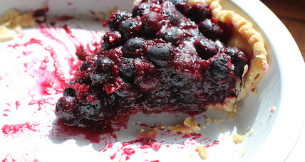 Seriously fresh blueberry pie