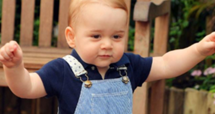 How does Britain's little prince celebrate a first birthday?