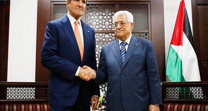 Can Kerry sell cease-fire as Abbas backs Hamas demands?