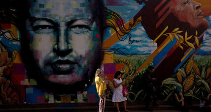 In the face of uncertainty, Venezuela frames Chávez as savior