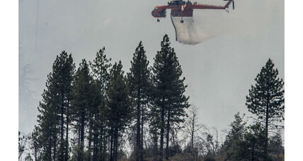 El Portal fire creeps up on Yosemite National Park