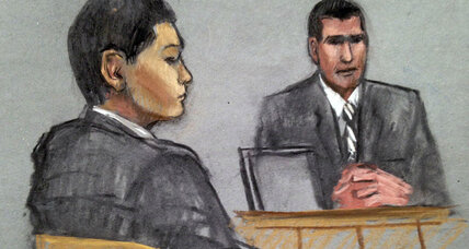 Portraits clash of friend of suspected Boston bomber, as trial nears end (+video)