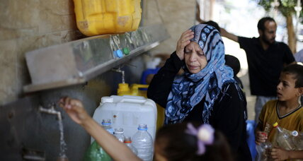 Under fire in Gaza, and not a drop to drink (+video)