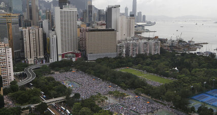 Hong Kong democracy rally brings out 500,000, organizers say