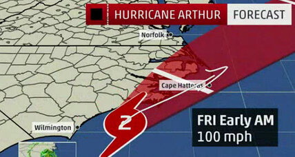 N. Carolina shrugs off hurricane Arthur; storm may glance off Cape Cod (+video)