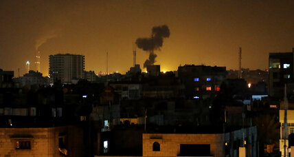 Israel strikes Gaza targets amid political fallout at home