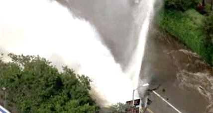 Spectacular video of water main break that flooded UCLA campus