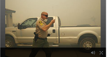 Wicked wind spreads wildfire, forcing thousands to evacuate in Calif. (+video)