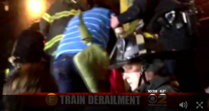 F train derails in New York, injuring more than a dozen