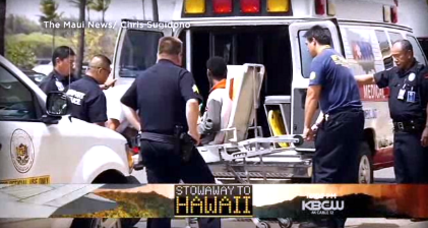 Stowaway teen leaves Hawaii with father (+video)