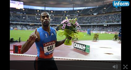 Tyson Gay suspended 1 year, returns Olympic silver medal