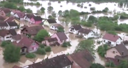 Worst deluge in a century inundates Serbia, Bosnia