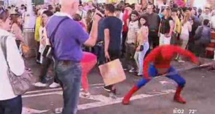 NYPD arrests 'Spider-Man' for assaulting a police officer