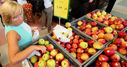 Sour apples in Russia? Putin moves to ban food imports from West.