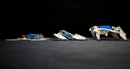 Is an origami robot uprising unfolding?