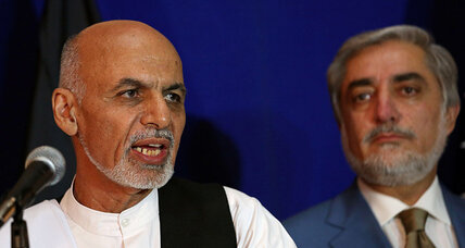 Rival Afghan presidential candidates agree to resolve dispute