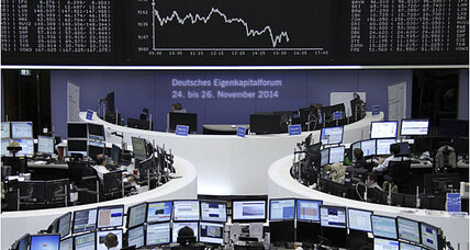 Lack of German confidence sends stocks and euro down; US markets hold steady