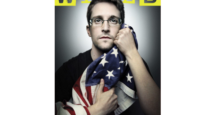 Does this photo tell us what Edward Snowden stands for?
