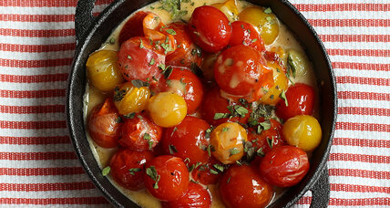 Cherry tomatoes in cream