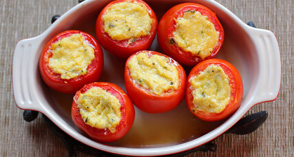 Tomatoes stuffed with summer squash