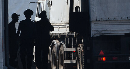Russian aid convoy crosses into Ukraine, upping diplomatic stakes