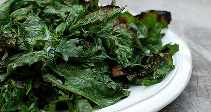Grilled coconut kale