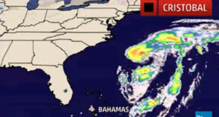 Hurricane Cristobal: A category 1 storm seen passing Bermuda